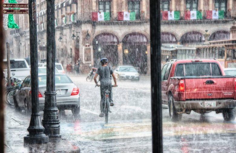 raining in town