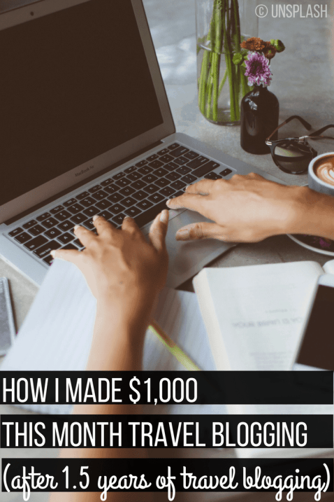 Want to learn how to make $1,000 a month travel blogging? Here are specific ways to monetize your blog including exactly how I do it and advice for you to follow. Click through to start making money!