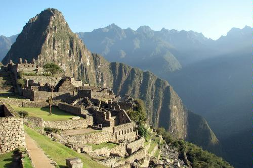 View of Machu Picchu in Peru's Sacred Valley.