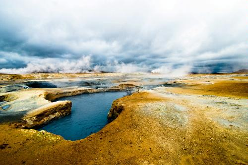 Hverir thermal field near Reykjahlíð, Iceland.