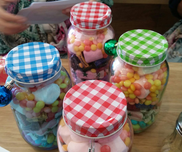 Jars of sweets from Shaheema made the day even sweeter.