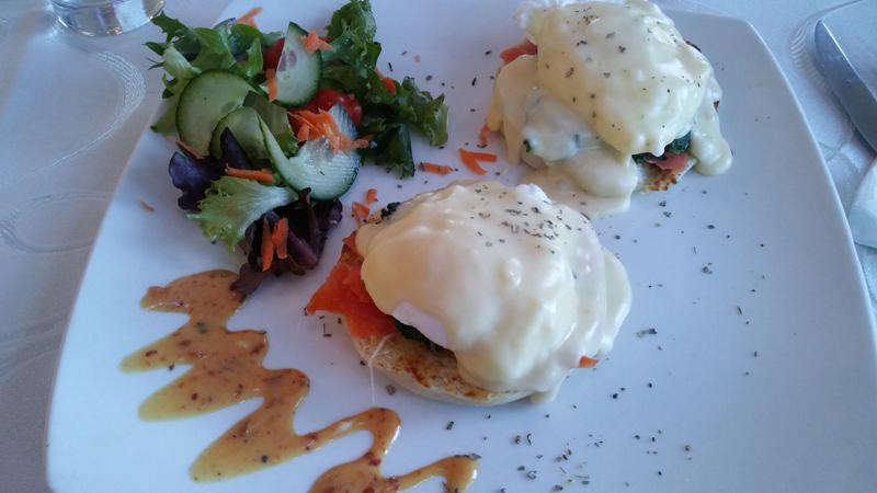 Eggs Benedict at Alhambra Restaurant.