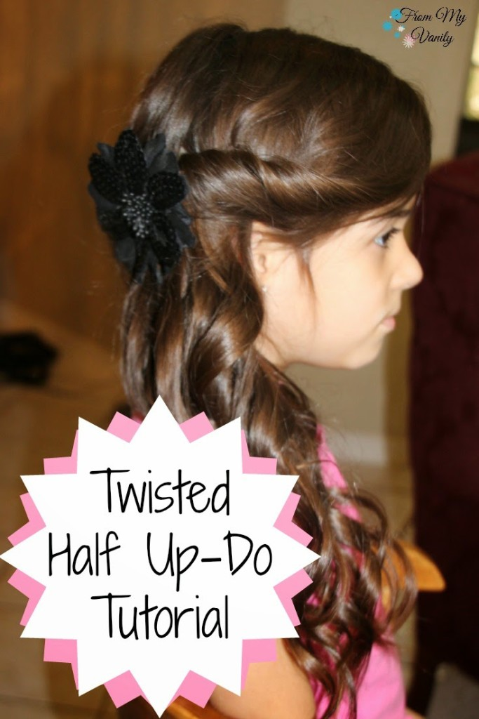 Hairstyling With Nume Twisted Half Up Do From My Vanity
