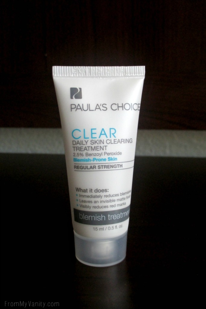 This blemish treatment from Paula's Choice helped clear up my skin!
