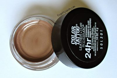 Maybelline Color Tattoo Leather Collections Creamy Beige Eyeshadow Review