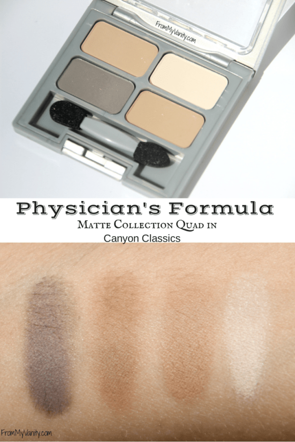 Physicians Formula Matte Collection Quad // Canyon Classic // Review & Swatches // FromMyVanity.com