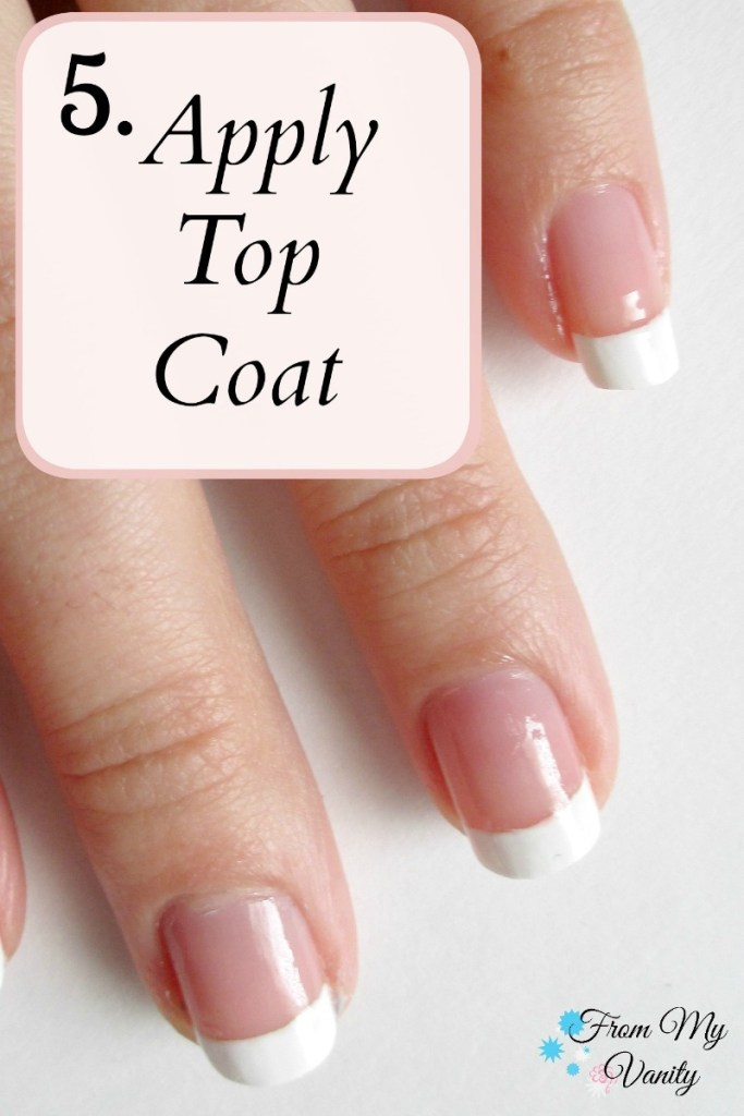 Easy DIY French Manicure at Home // Nail Tutorial // Step 5 // FromMyVanity.com
