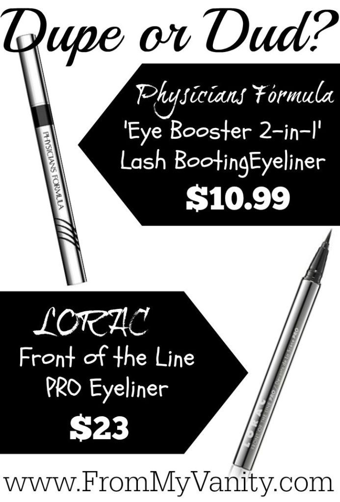 Are They a Dupe or Dud // Lorac VS Physicians Formula Liquid Eyeliners // Comparison // From My Vanity