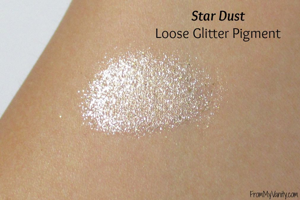 Too Faced Star Dust Vegas Nay // Loose Gliiter Pigment Swatch // FromMyVanity.com