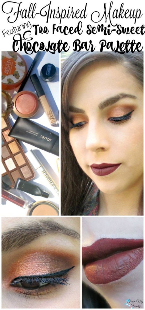 Fall-Inspired Face of the Day // featuring Too Faced Semi-Sweet Chocolate Bar Palette // Pin it and Read Later! // #fotd #toofaced FromMyVanity.com