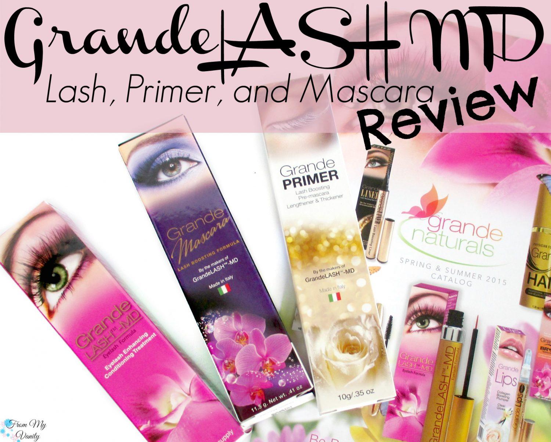 Grande Lash MD's GrandeLASH, GradePRIMER, and GrandeMASCARA Review // #GrandeLashMD #LongLashes // FromMyVanity.com