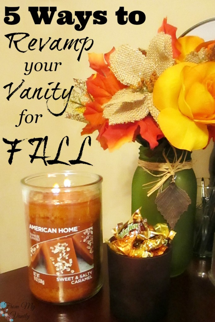 Decorate Your Vanity for Fall // Fall Inspired Decorating Ideas! // Save & Read Later // #LoveAmericanHome #CollectiveBias #ad // FromMyVanity.com