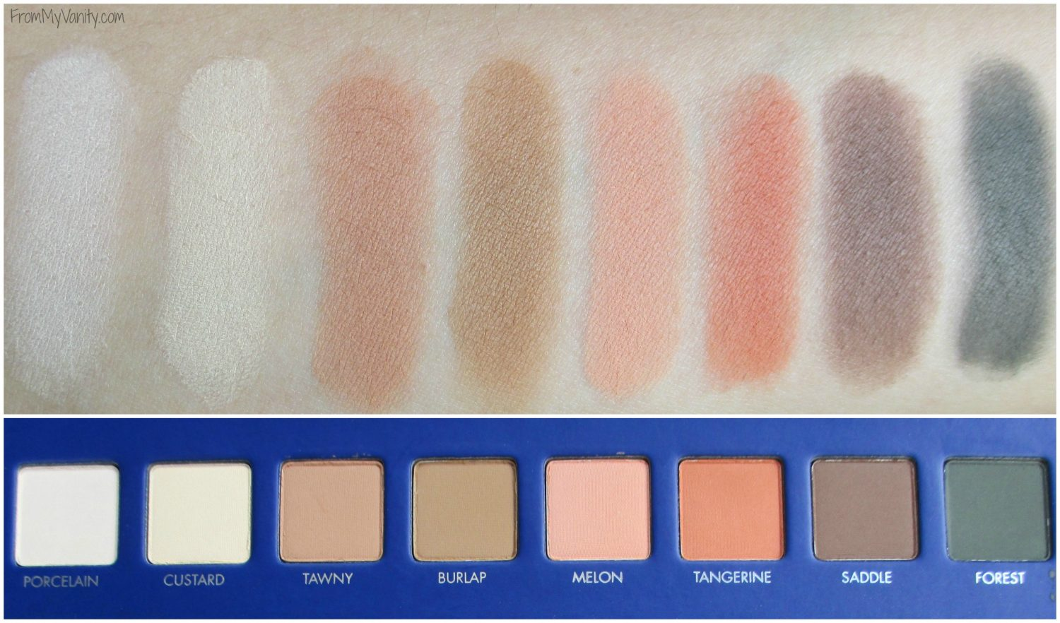 LORAC Mega Pro 2 Eyeshadow Palette // Review, Swatches, & Eye Looks // Swatches of First Row // #LORACCosmetics #MegaPro2 FromMyVanity.com
