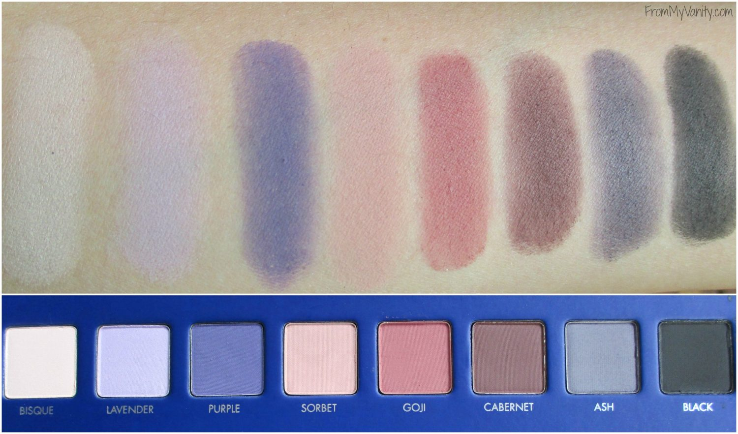 LORAC Mega Pro 2 Eyeshadow Palette // Review, Swatches, & Eye Looks // Swatches of Second Row // #LORACCosmetics #MegaPro2 FromMyVanity.com