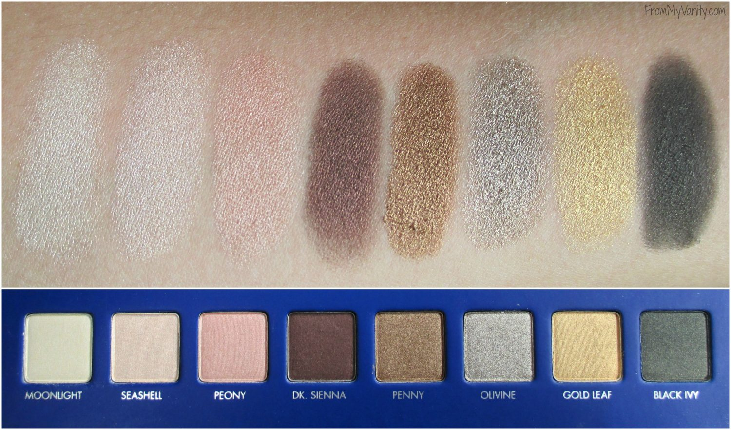 LORAC Mega Pro 2 Eyeshadow Palette // Review, Swatches, & Eye Looks // Swatches of Fourth Row // #LORACCosmetics #MegaPro2 FromMyVanity.com