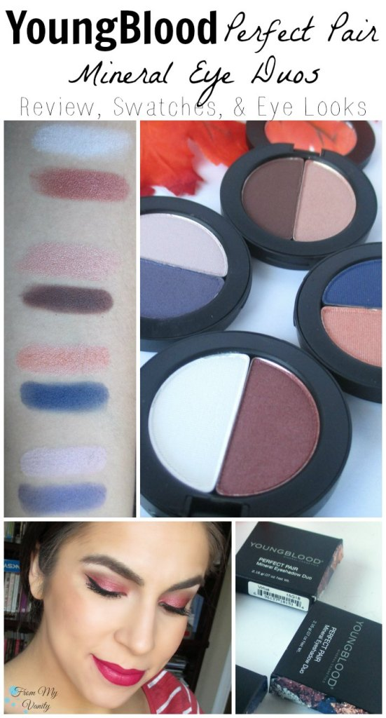 YoungBlood Perfect Pair // Mineral Eyeshadow Duos // Review, Swatches, & Eye Looks // #ybskin #youngblood @LadyKaty92 FromMyVanity.com
