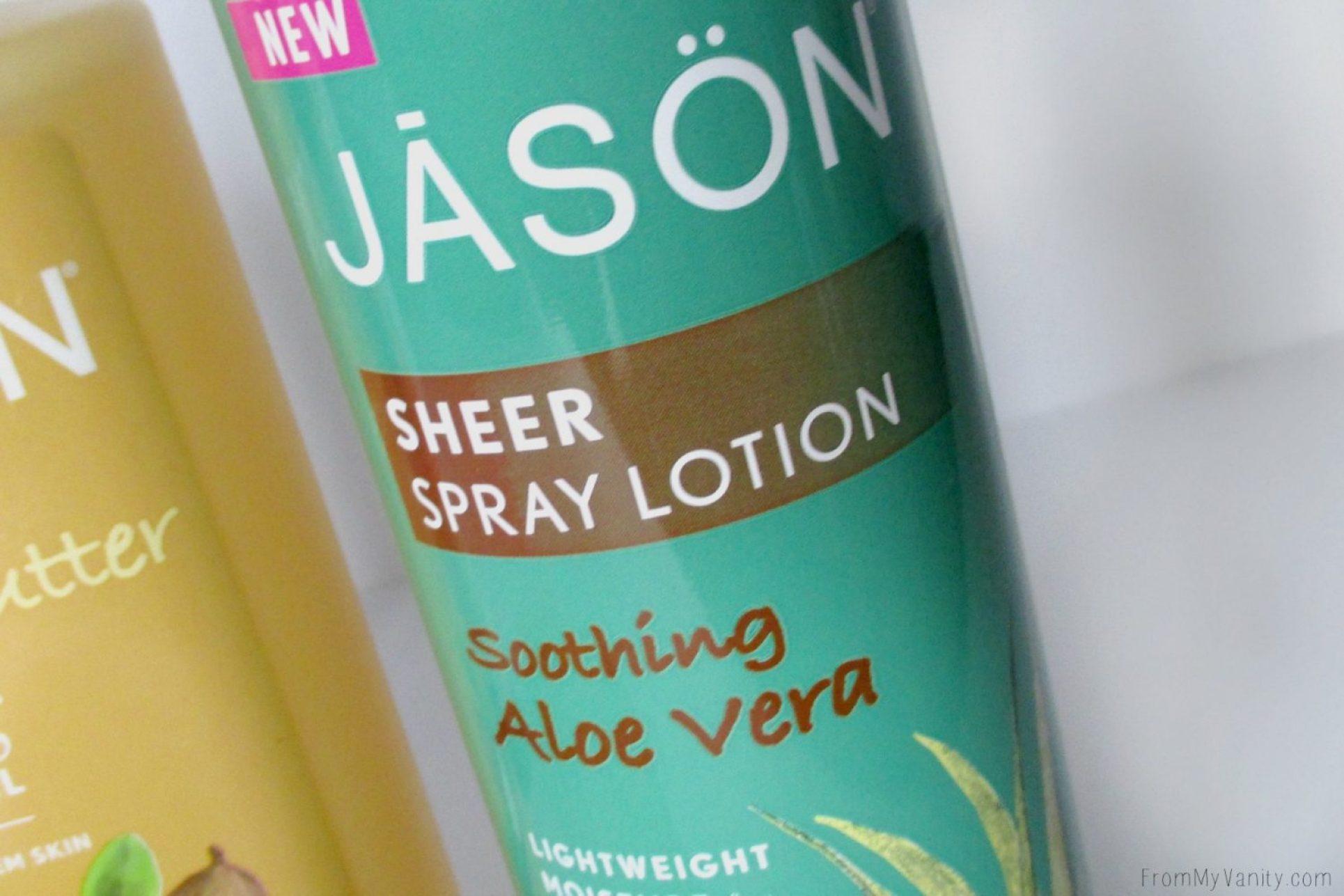 New Products from Avalon Organics, Jason, Alba Botanica, & Proactiv+ // Jason Sheer Spray Lotion // @LadyKaty92 FromMyVanity.com
