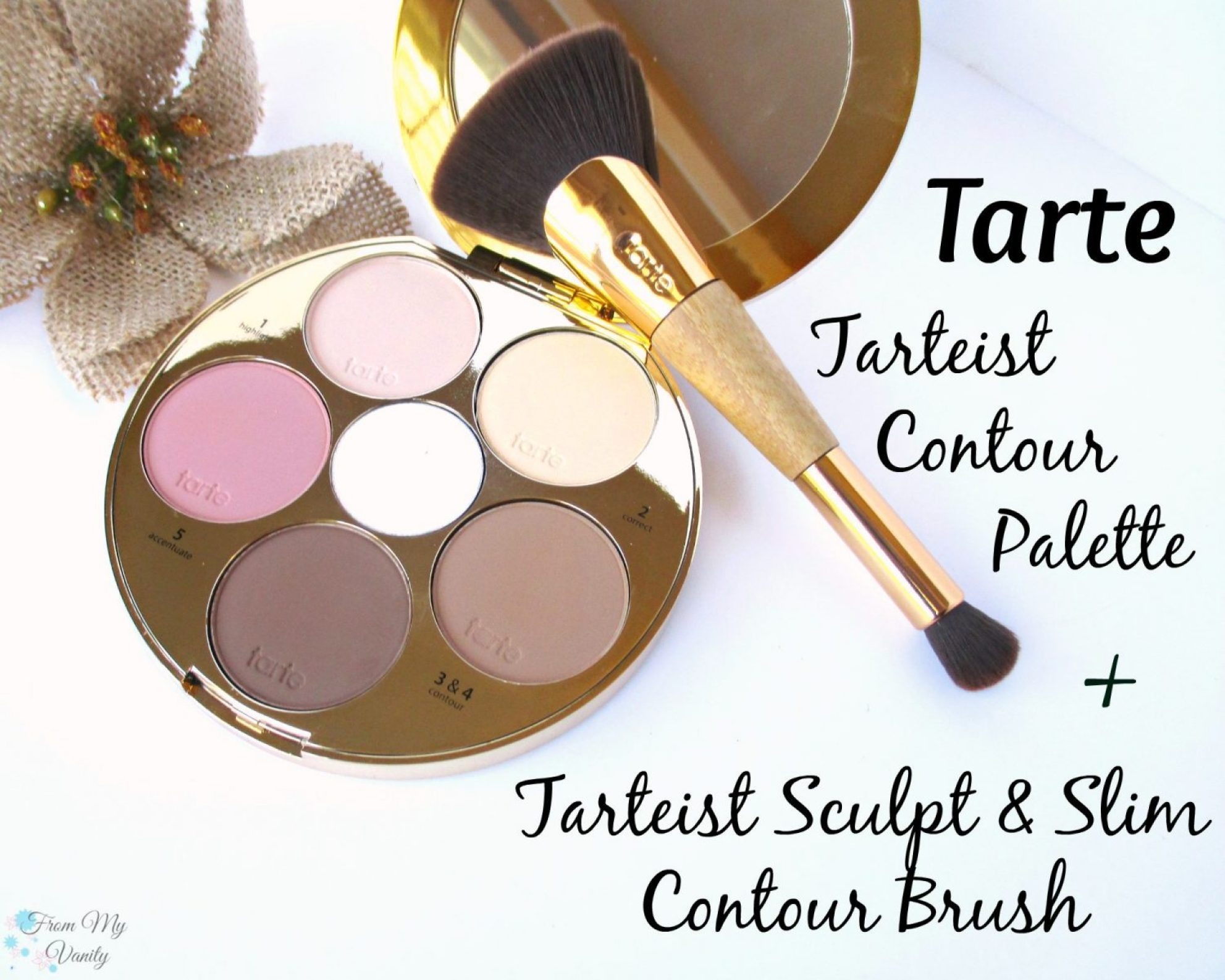 Tarte Tarteist Contour Palette // Tarteist Sculpt & Slim Contour Brush // Review & Swatches // #TarteCosmetics @LadyKaty92