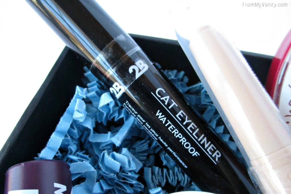 I was so impressed with this felt-tip liquid eyeliner -- and I typically don't like felt tips! 2B Colours