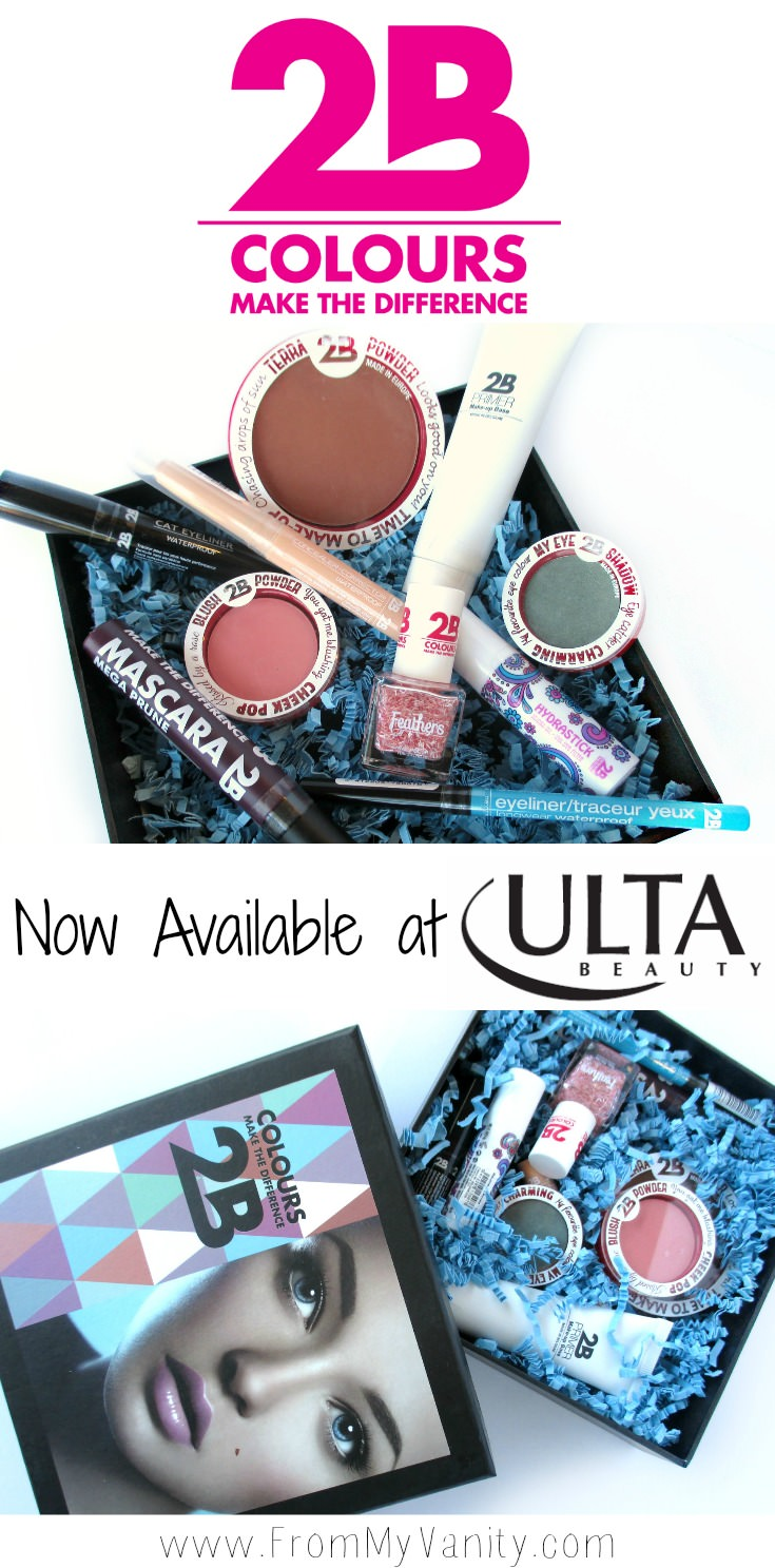 2B Colours is now available at Ulta! For such an affordable brand, I found the quality on many of the products to be fabulous! // #2bcolours #makeup #beauty #ulta