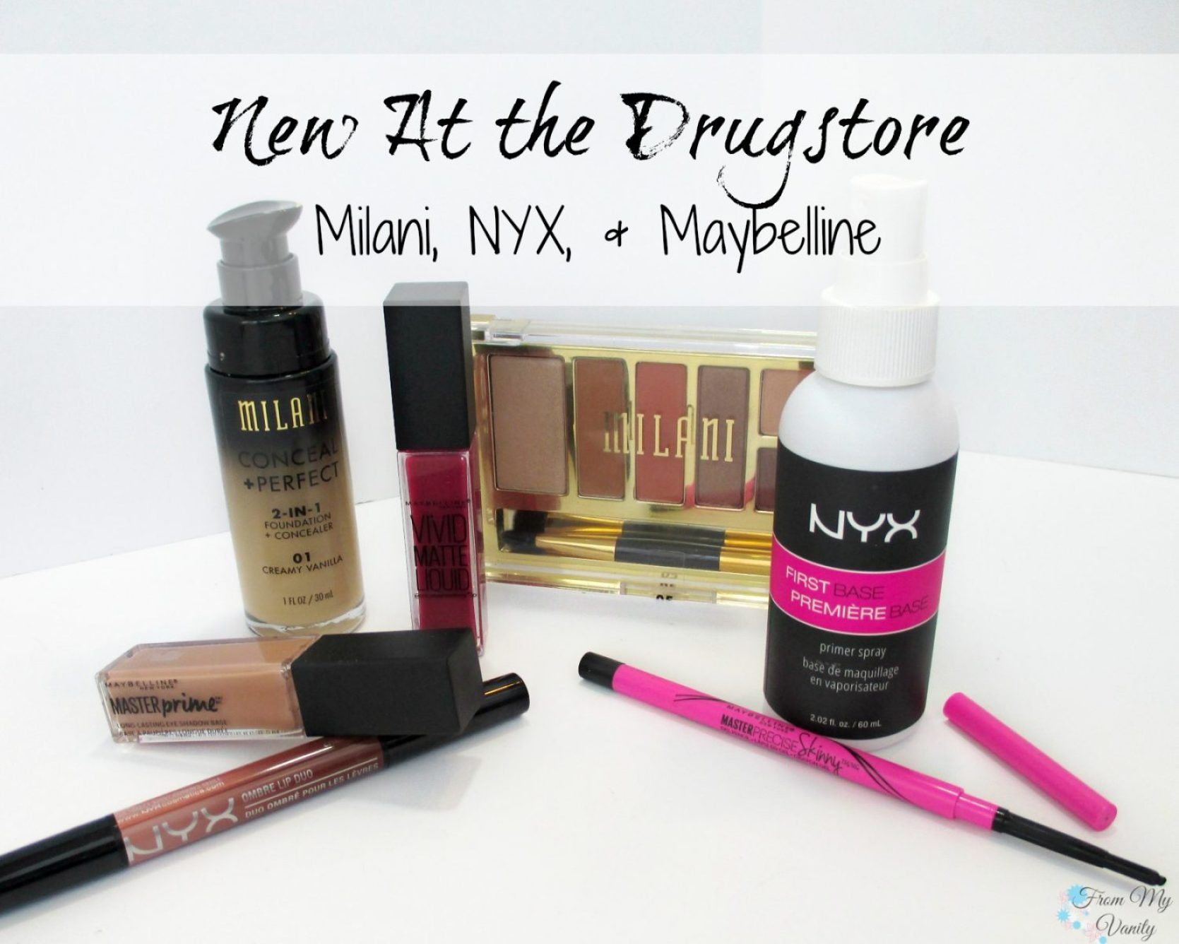 New Products from Milani, NYX Cosmetics, and Maybelline // #Milani #Maybelline #NYXCosmetics // FromMyVanity.com @LadyKaty92