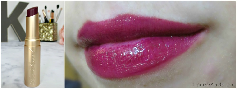 What a beautiful, berry shade! // Too Faced La Creme Color Drenched Lipstick in Berry Naughty // New Shades!