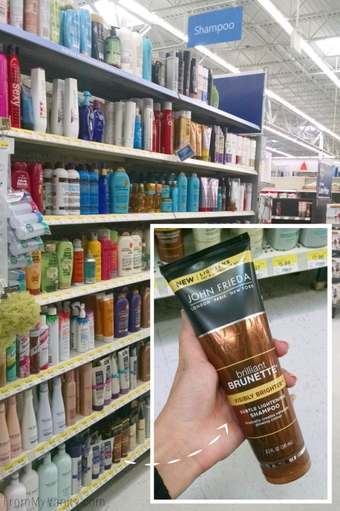 I found the new John Frieda Brilliant Brunette® Visibly Brighter™ Shampoo at my local Walmart!