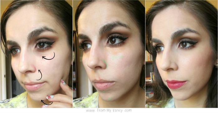 Before, During, & After using Smashbox Color Correcting Pencils!