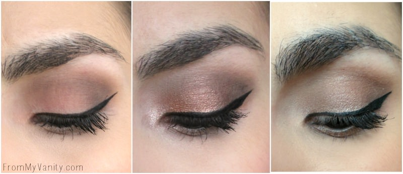 Eye looks created using the Tartelette In Bloom palette