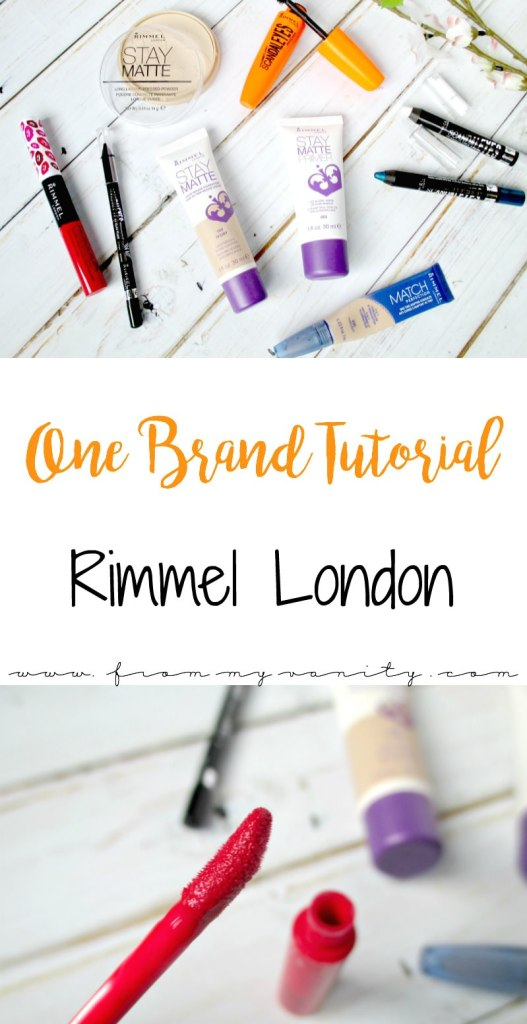 This one brand tutorial featuring Rimmel London is fantastic! So festive for the 4th of July, or any day of the year when you want a bold lip and flawless features!