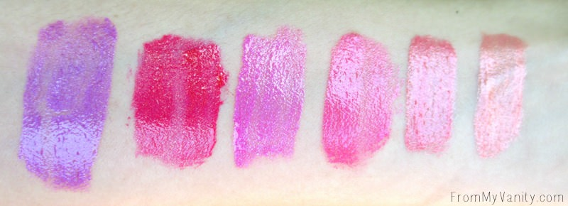 Wet n Wild Metallic Liquid Lipstick Summer 2016 collection arm swatches