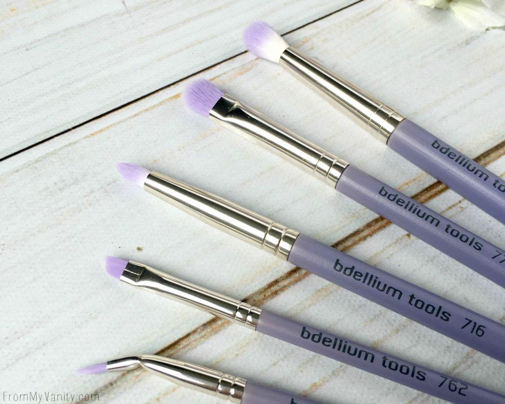 Closeup of Bdellium Tools Sultry Eyes brush set
