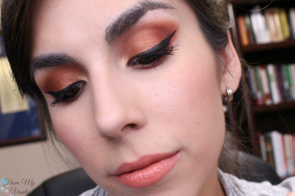 Fall Inspired Copper Eyes using Makeup Geek Autumn Glow Bundle!