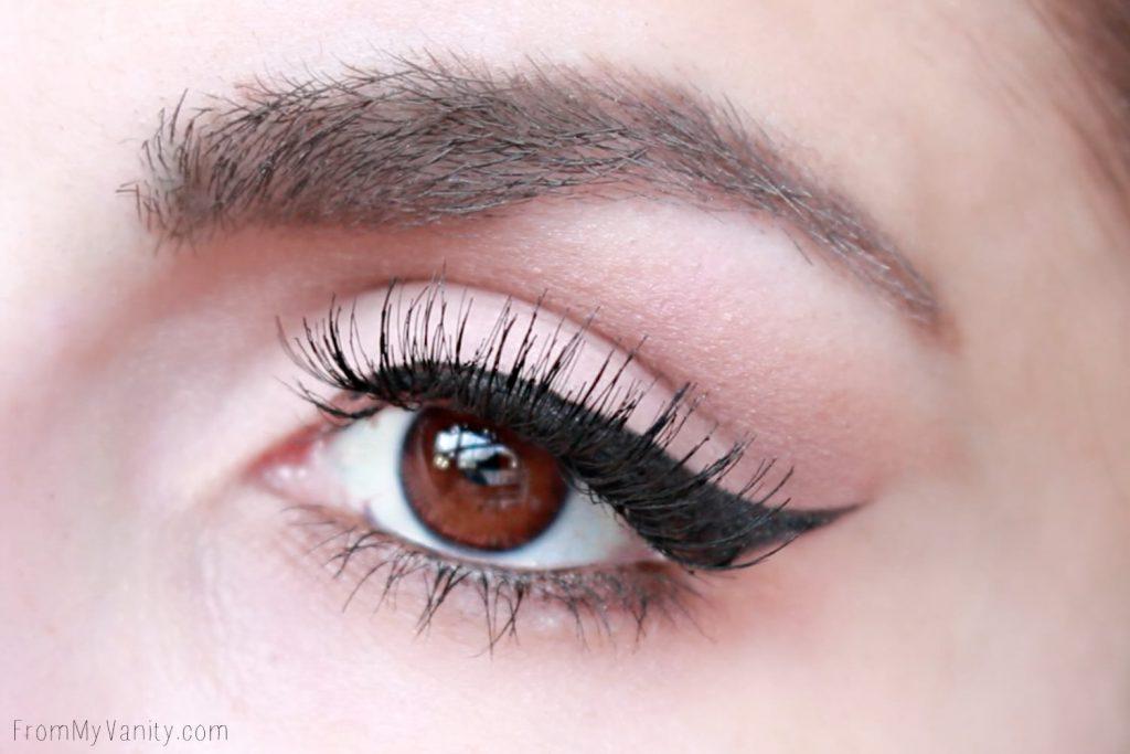 Flawless winged eye using Neutrogena eyeshadow palette, available at Walmart!