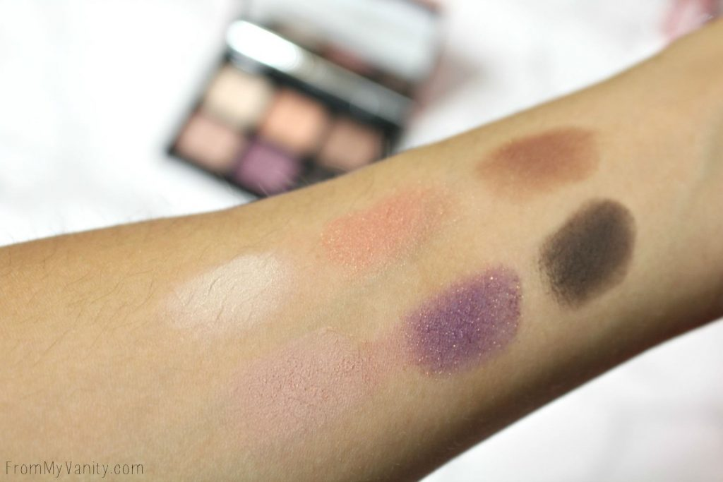 Arm swatches from the Smashbox Eyes | Light It Up: 3 Mini Palettes