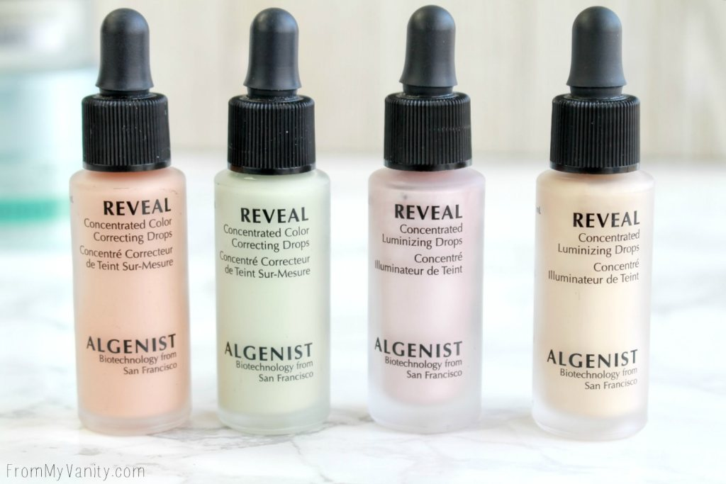 Algenist Reveal Concentrated Color Correcting Drops and Concentrated Illuminating Drops