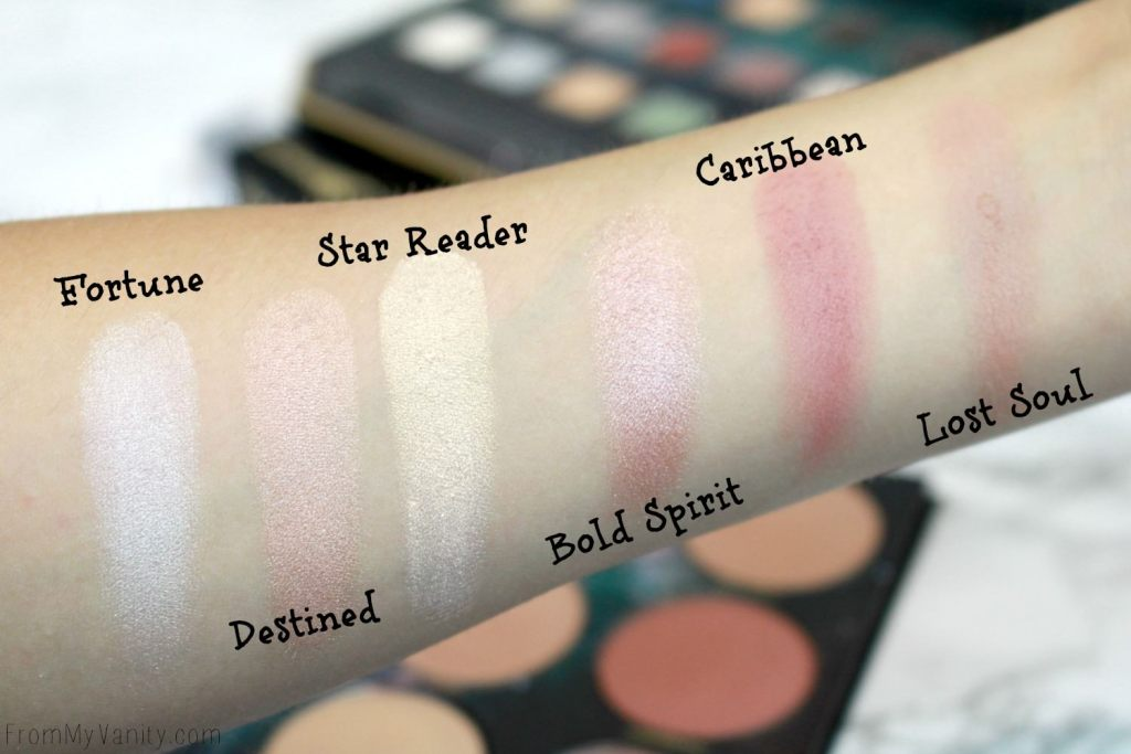 LORAC + Pirates of the Caribbean Collection   Review, Swatches, and Demo   LIMITED EDITION   Cheek Palette Swatches