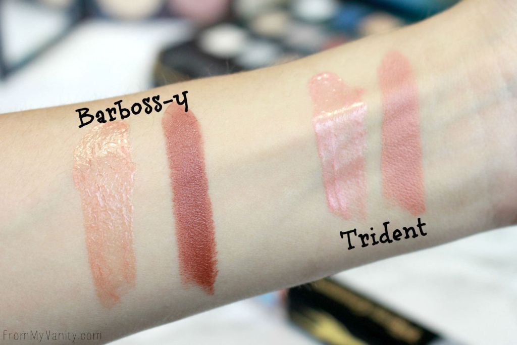 LORAC + Pirates of the Caribbean Collection   Review, Swatches, and Demo   MOD Lip Cream Swatches   Barboss-y   Trident