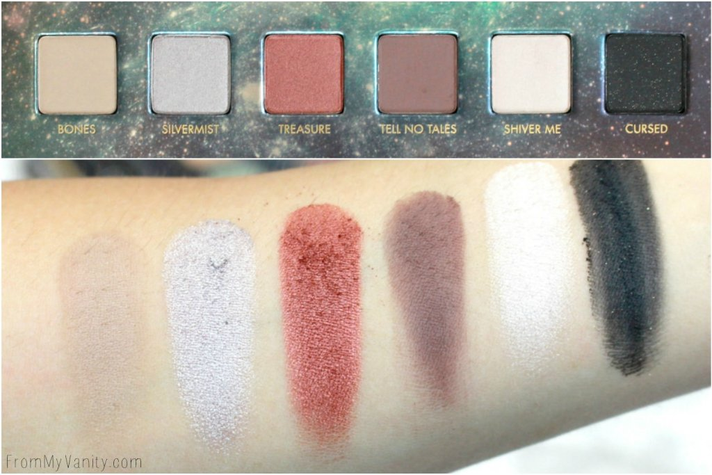 LORAC + Pirates of the Caribbean Collection | Review, Swatches, and Demo | LMITED EDITION | Swatches of Second Row