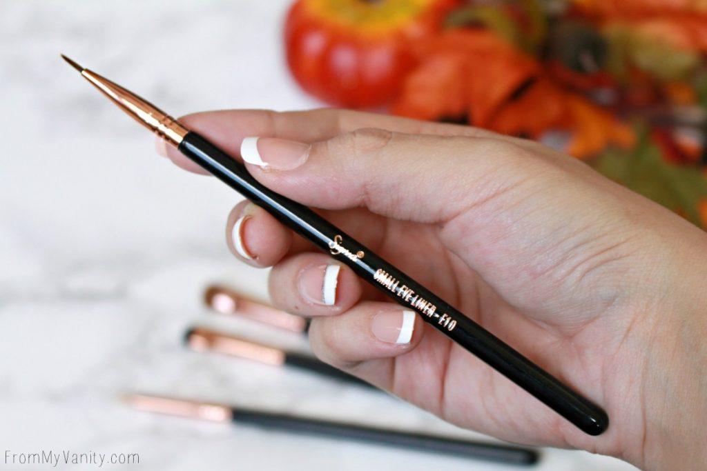 Sigma Beauty Ultimate Copper Eye Brush Set | Review | E10 Small Eye Liner Brush