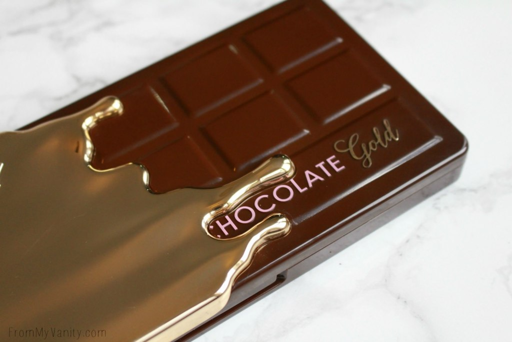 Too Faced Chocolate Gold Palette | Review & LIVE Eye Swatches | Gold drips