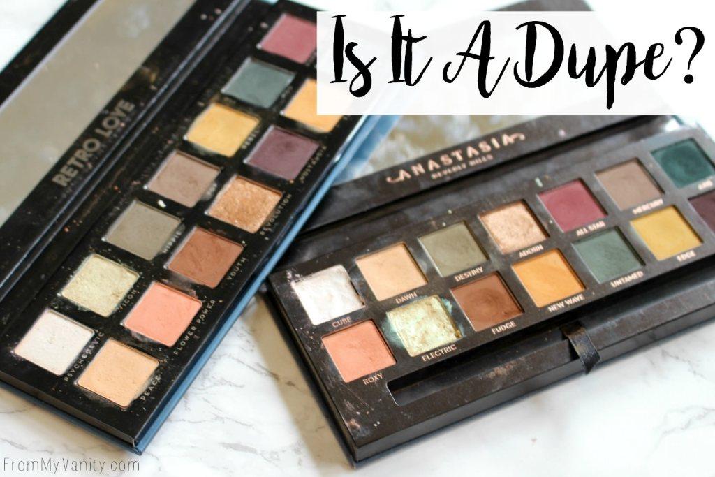 Dupe or Dud   ABH Subculture Palette vs Bad Habit Retro Love Palette   Eye Look Comparison!