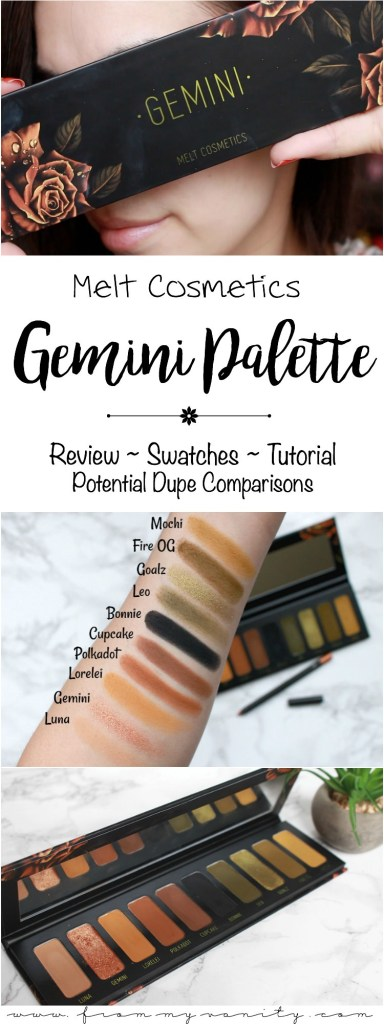 Melt Cosmetics Gemini Palette | Review, Swatches, Tutorial ...
