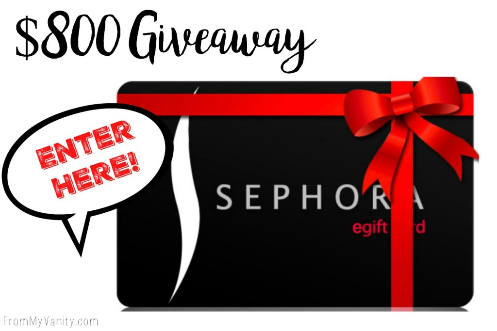 $800 Sephora Giftcard Giveaway!
