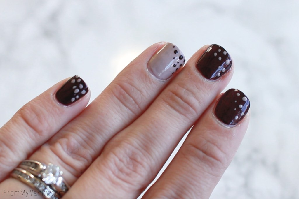 Fall Nail Art Tutorial for Short Nails with CND VinyLux | Final Results