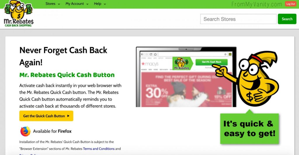 Tips to Save Money with Mr. Rebates | Mr. Rebates Quick Cash Button