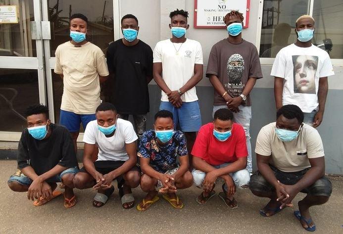 EFCC Arrests Ten Suspected Internet Fraudsters In Akure