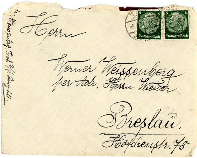 30 May 1936, Envelope