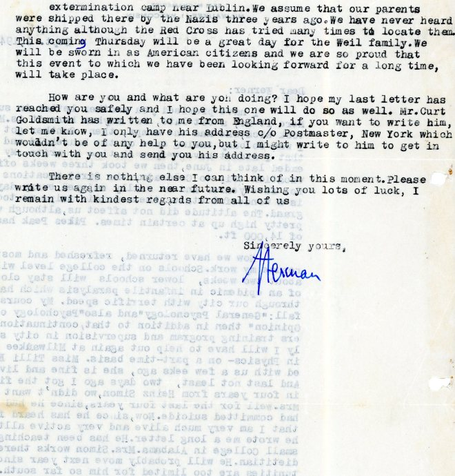 Letter: 2nd September 1944, page two