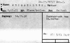 Werner_CNI_Record_Card_Dachau